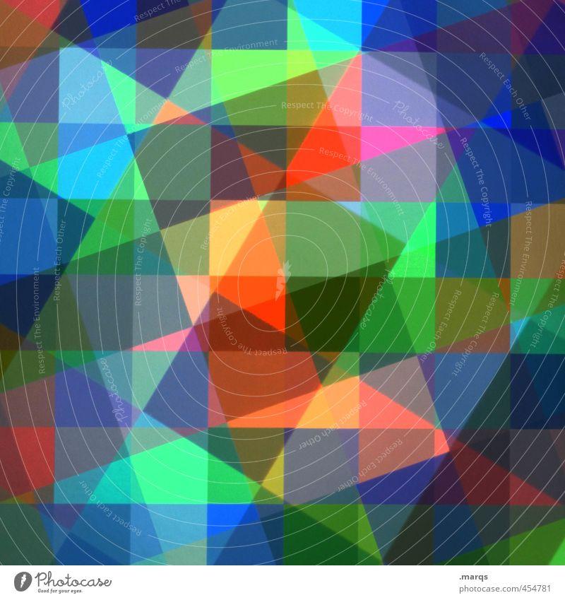 Puzzle Farbe Stil außergewöhnlich Linie Design Ordnung verrückt einzigartig Coolness trendy Doppelbelichtung Surrealismus komplex Mosaik