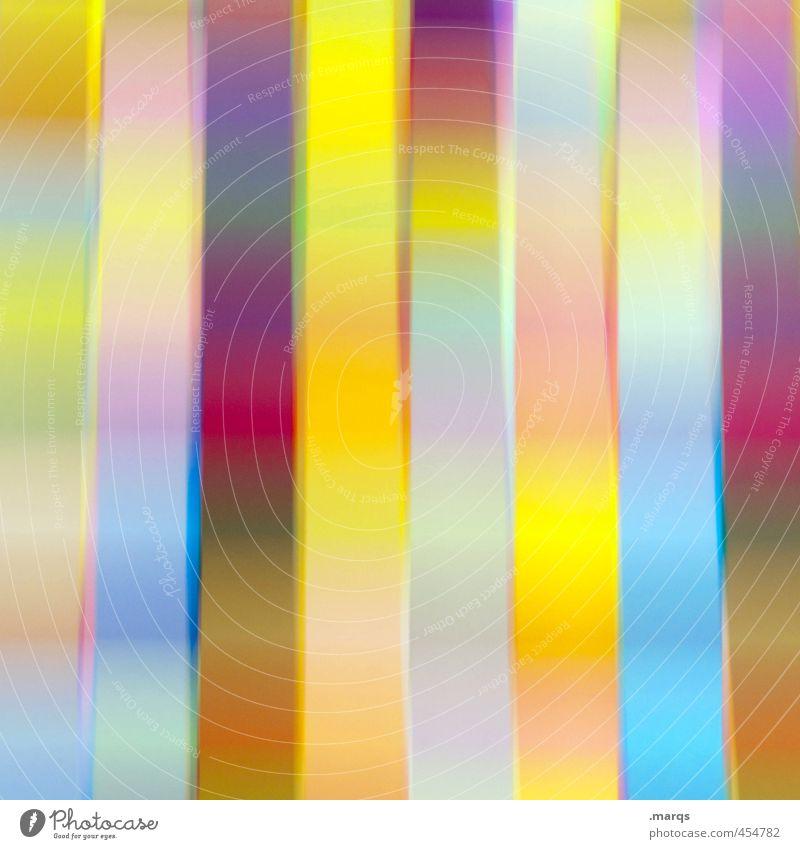 Floating Lifestyle elegant Stil Design Kunst Linie Streifen außergewöhnlich Coolness trendy einzigartig schön verrückt mehrfarbig Farbe Irritation