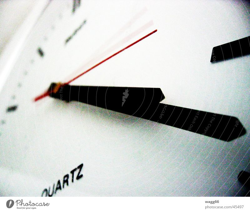 Any second now! Zeit Uhr Wanduhr
