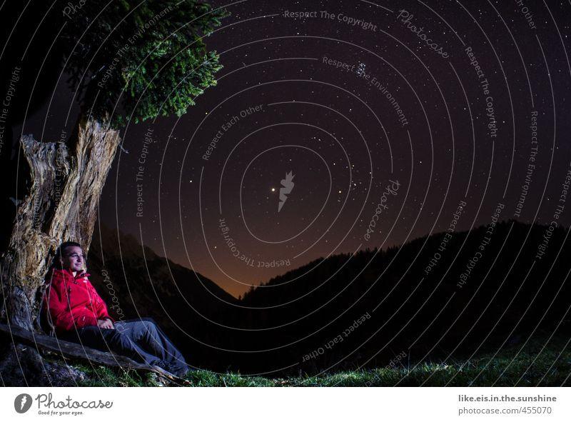 S leuchten die Sterne-O wärst du da! Mensch Natur Jugendliche Sommer Baum Erholung Einsamkeit ruhig Landschaft Junger Mann Erwachsene Umwelt 18-30 Jahre