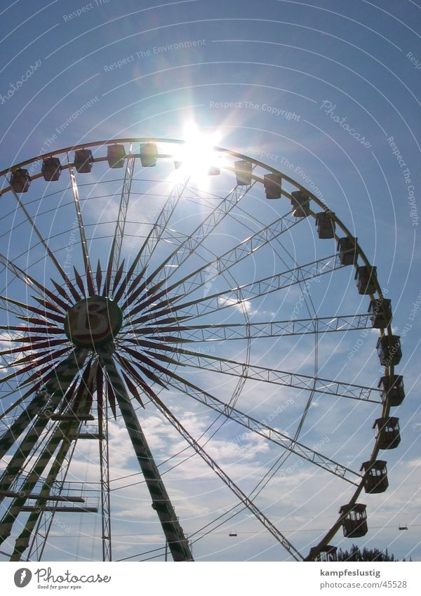 B=meins Sommer Jahrmarkt Riesenrad Juli Freizeit & Hobby Sonne Himmel