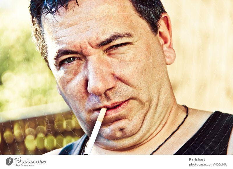 IT'S ONLY ROCK 'N' ROLL Mensch Natur Mann Gesicht Erwachsene Leben Lifestyle Feste & Feiern Haare & Frisuren Kopf Gesundheitswesen maskulin Musik Rauchen