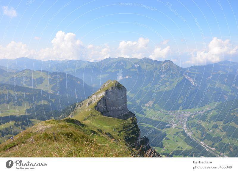 hochprozentige | Steigung bis zum Gipfel Freizeit & Hobby wandern Landschaft Urelemente Erde Luft Himmel Wolken Sommer Alpen Berge u. Gebirge Bregenzerwald