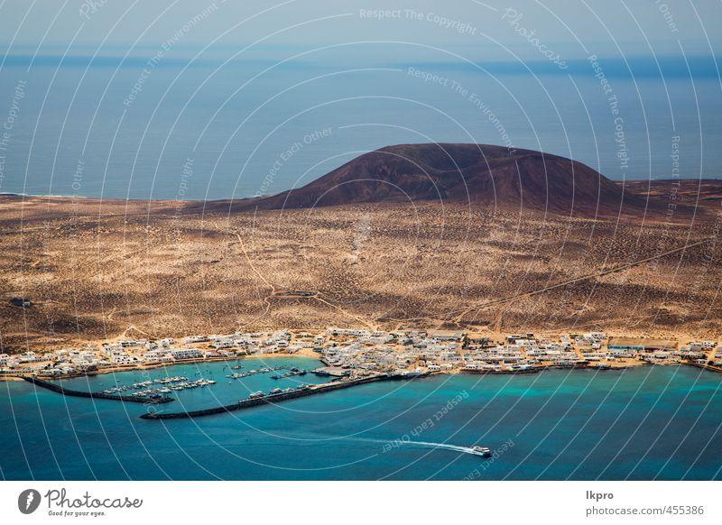 Himmel Wolke Strand Boot Yacht Wasser in Lanzarote Ferien & Urlaub & Reisen Tourismus Ausflug Sommer Meer Insel Wellen Natur Landschaft Pflanze Sand Wolken