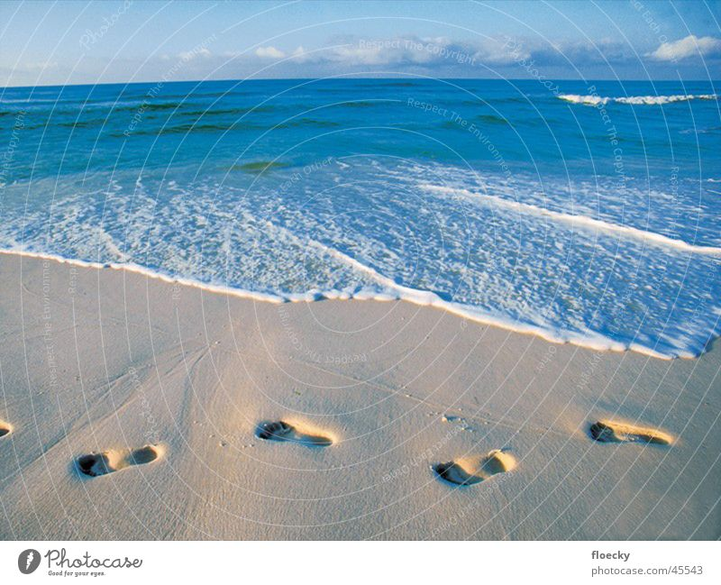 Strand Fußspur Barfuß
