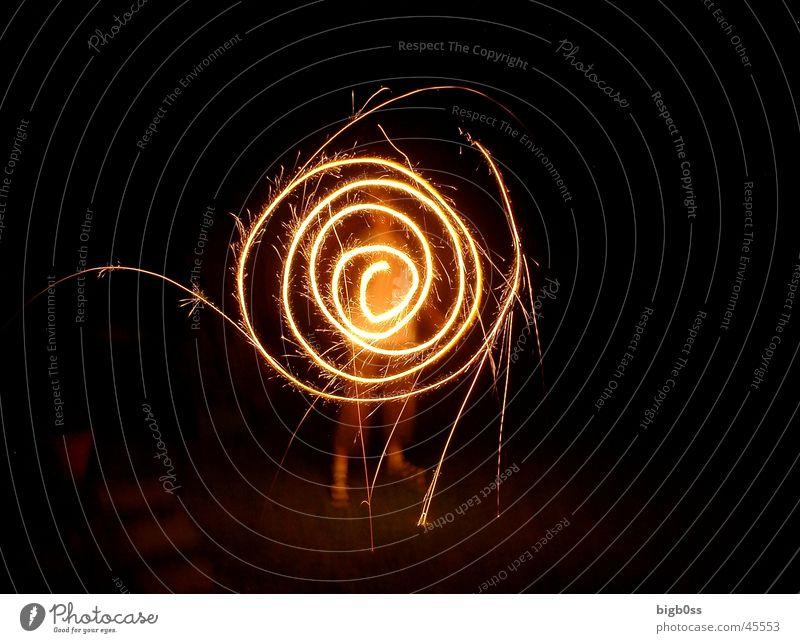 Leuchtspirale Spirale Funken