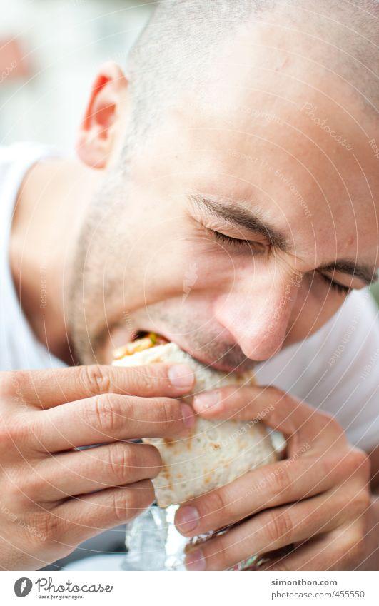 hunger Jugendliche Erwachsene 18-30 Jahre Gesunde Ernährung Essen Gesundheit maskulin Zufriedenheit Studium genießen Fitness Student Leidenschaft Übergewicht