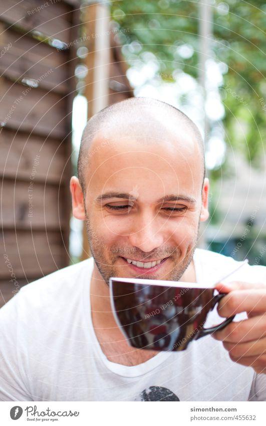 Erstmal Kaffee schön Erholung ruhig Freude Liebe Leben sprechen Glück Garten Freundschaft maskulin Zufriedenheit Lifestyle Studium Warmherzigkeit Pause