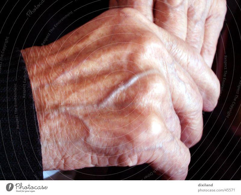 durchblutet Frau Mensch alt Hand ruhig Leben Arbeit & Erwerbstätigkeit Zeit Gefäße