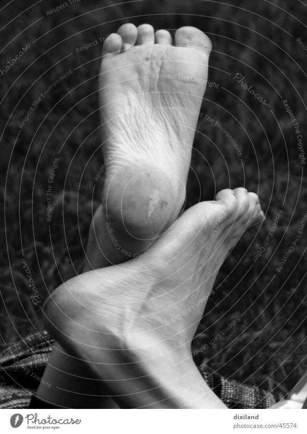 Tango sphaerica Barfuß Zehen Schuhsohle Fuß Schwarzweißfoto Detailaufnahme paarweise