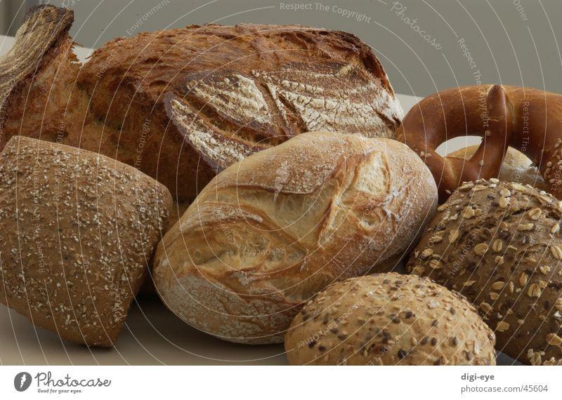 Backwaren Ernährung Brot Korn Brötchen Brezel