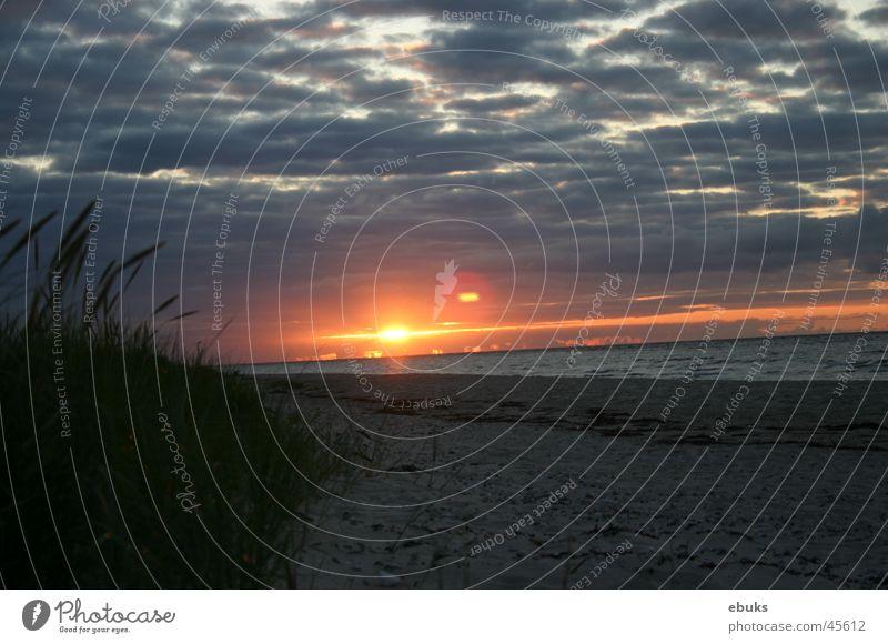 Sundown Sonne Meer Strand Wolken