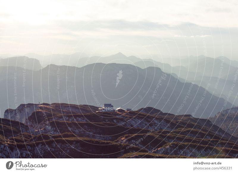 Untersberg Umwelt Natur Landschaft Himmel Wolken Sonne Sonnenaufgang Sonnenuntergang Sonnenlicht Herbst Klima Wetter Schönes Wetter Felsen Alpen