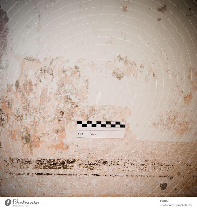 Testbild Häusliches Leben Mauer Wand Zeichen Schriftzeichen Ziffern & Zahlen Schilder & Markierungen alt einfach historisch Verfall Vergänglichkeit