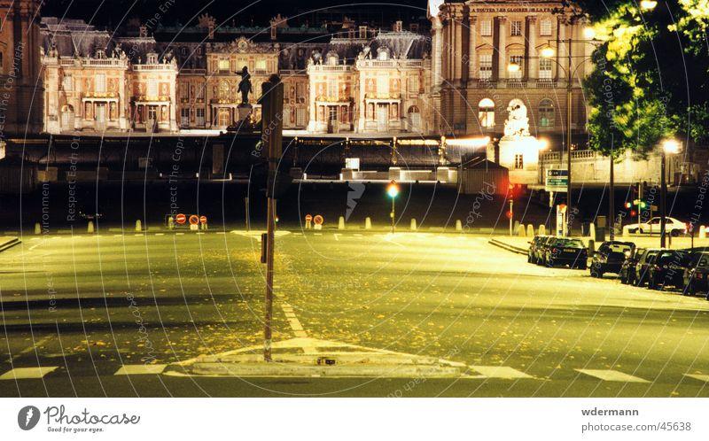 Versailles at night Straße Europa Burg oder Schloss Frankreich