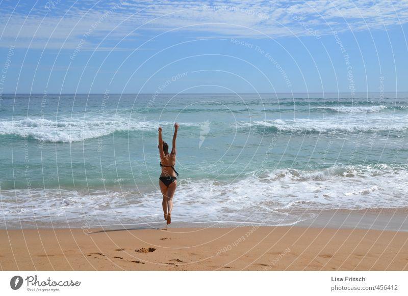 frei wie der wind - Australien - Meer feminin Junge Frau Jugendliche Leben Körper Haut Gesäß 1 Mensch 18-30 Jahre Erwachsene Wasser Himmel Sommer Schönes Wetter