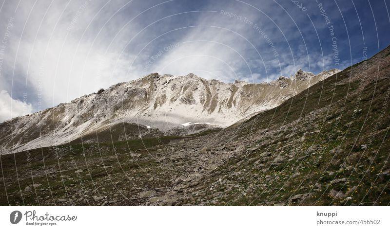 Sturm Natur Landschaft Urelemente Luft Himmel Wolken Sonne Sonnenlicht Sommer Klimawandel Schönes Wetter Wind Eis Frost Schnee Dürre Felsen Alpen