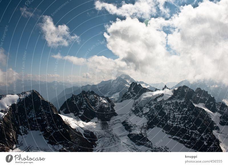 Engelberg (Schweiz) Umwelt Natur Landschaft Urelemente Luft Wasser Himmel Wolken Horizont Sonne Sonnenlicht Winter Schönes Wetter Schnee Alpen Berge u. Gebirge