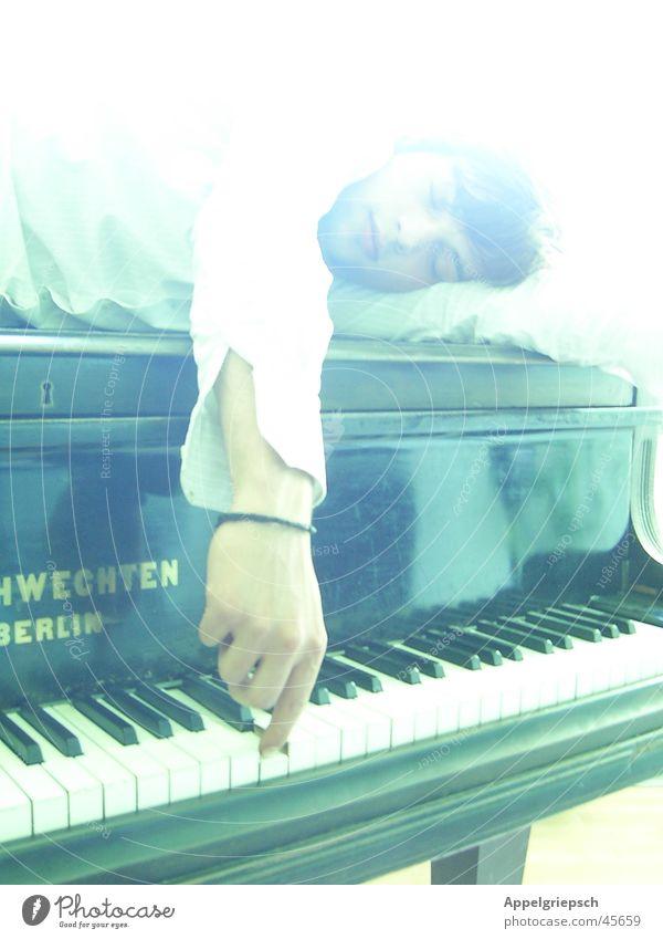 der Ton Mann Hand weiß schwarz Musik Arme Klavier