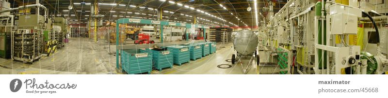 Panorama Produktionshalle Lager groß Industrie Fabrikhalle Maschine Lagerhalle Panorama (Bildformat) Kunstwerk Fertigungsanlage Montagehalle