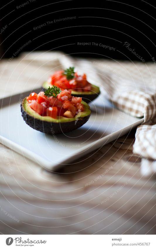 Tomate-Avocado Gemüse Salat Salatbeilage Frucht Ernährung Mittagessen Abendessen Bioprodukte Vegetarische Ernährung Diät Slowfood Fingerfood Gesundheit lecker