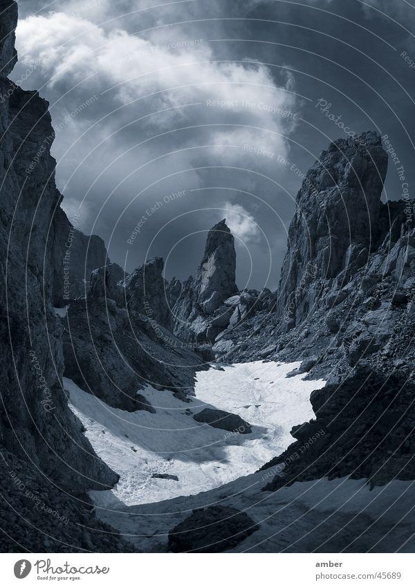 Latemar Gebirge Wolken Schnee Berge u. Gebirge Felsen Dolomiten