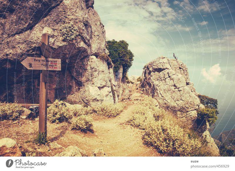 Zum Puig de Galatzó ... Natur Ferien & Urlaub & Reisen Landschaft Berge u. Gebirge Reisefotografie Wege & Pfade Küste Felsen Idylle Schilder & Markierungen