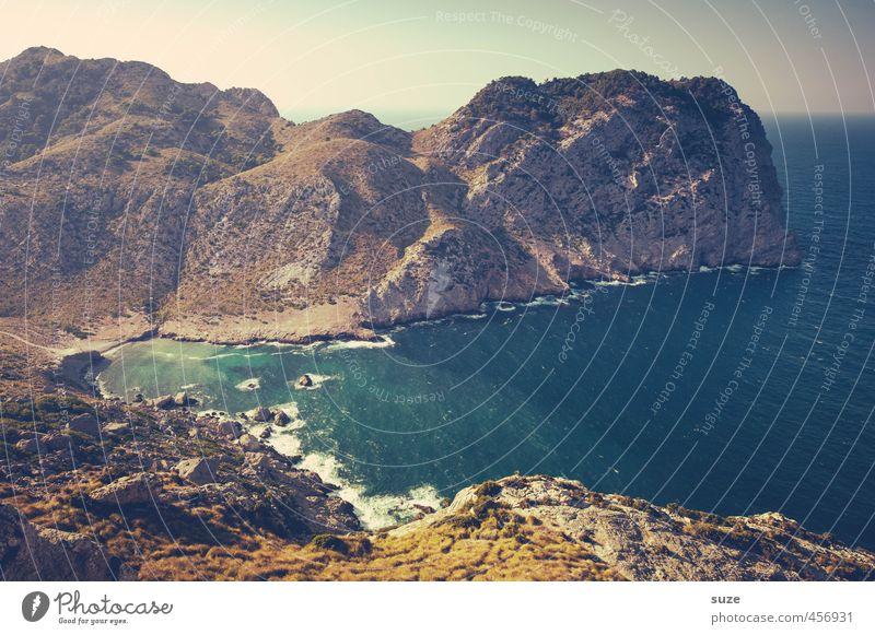 Riesenmeeresschildkröte Natur Ferien & Urlaub & Reisen Sommer Meer Einsamkeit Landschaft Strand Umwelt Berge u. Gebirge Reisefotografie Küste Felsen Erde Idylle