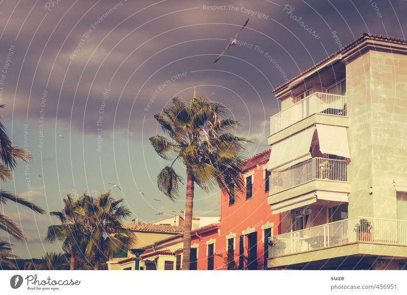 Hafen von Andratx Himmel Natur Ferien & Urlaub & Reisen Stadt Sommer rot Landschaft Wolken Haus Umwelt Fenster Wärme Reisefotografie Gebäude Architektur Fassade
