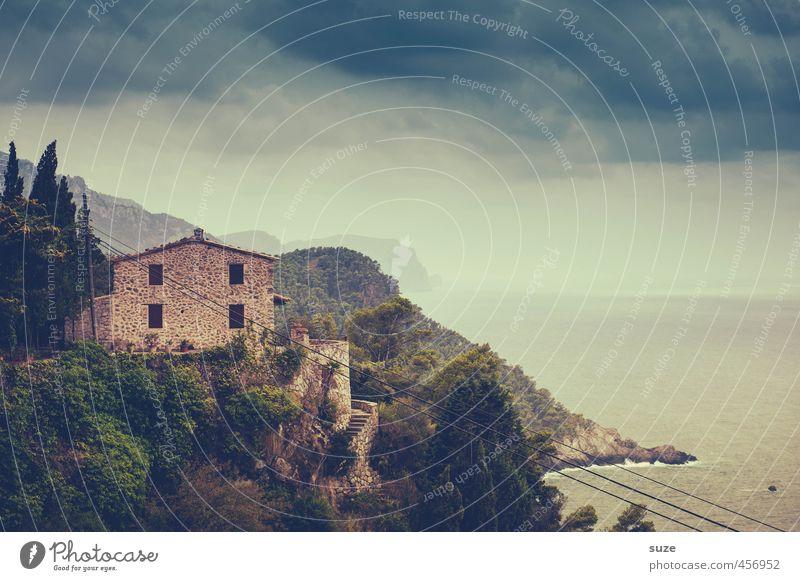 Finca Natur Ferien & Urlaub & Reisen alt Meer Einsamkeit Landschaft Haus Fenster Wand Küste Gebäude Mauer Architektur Fassade Häusliches Leben Aussicht