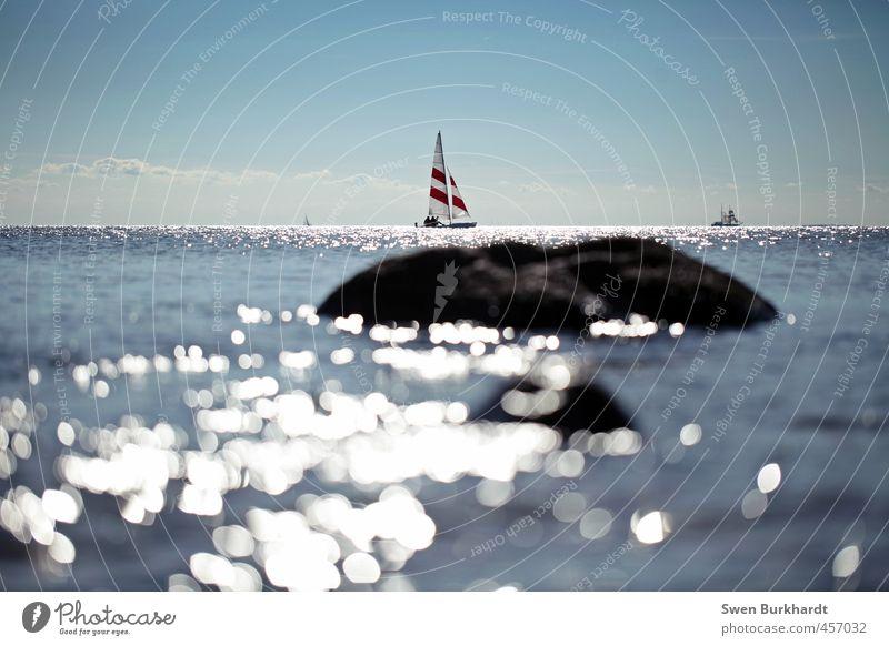 Sommer! Sonne! Segeln! Himmel Natur Jugendliche Ferien & Urlaub & Reisen Wasser Meer Wolken Strand 18-30 Jahre Erwachsene Umwelt Sport Küste Freizeit & Hobby