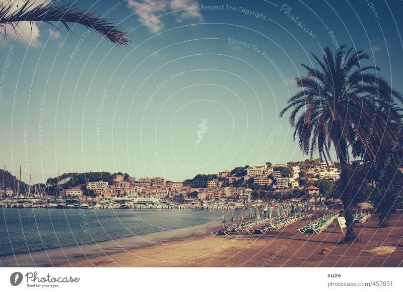 Port de Sóller Ferien & Urlaub & Reisen Stadt Sommer Meer Einsamkeit Landschaft Strand Haus Wärme Küste Gebäude Architektur Tourismus fantastisch Hafen Spanien