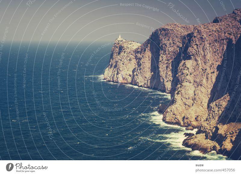 Du suchst das Meer Ferien & Urlaub & Reisen Sommer Berge u. Gebirge Natur Landschaft Erde Felsen Küste Bucht Leuchtturm Sehenswürdigkeit alt fantastisch blau