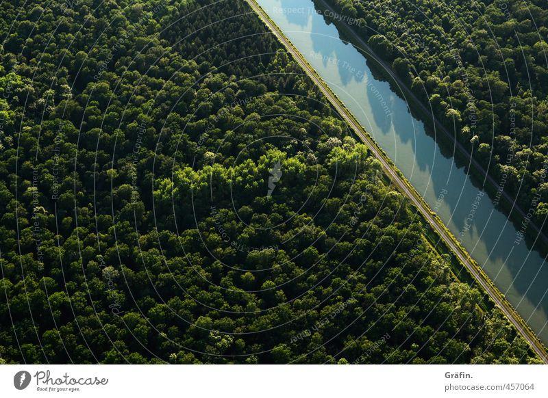 Du suchst das Meer Umwelt Natur Landschaft Wasser Sommer Schönes Wetter Baum Wald Mittellandkanal Verkehrswege Fluss Binnenschifffahrt entdecken Unendlichkeit