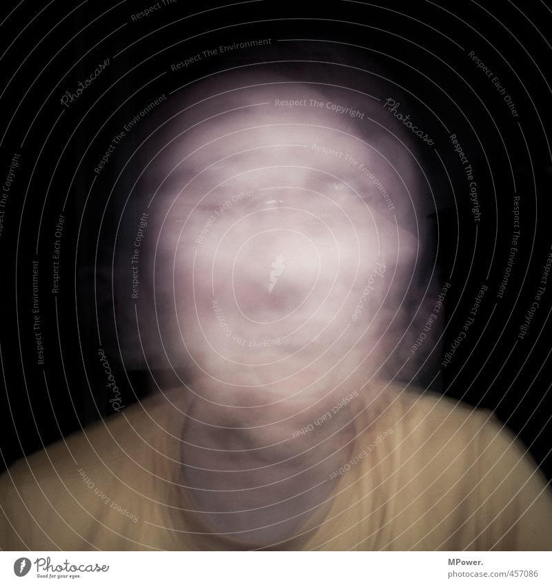 verzerrtes selbstbild Mensch maskulin Kopf Ohr Nase 1 Bewegung Aggression gruselig hässlich rebellisch verrückt Geschwindigkeit Wut Gefühle Euphorie Schmerz