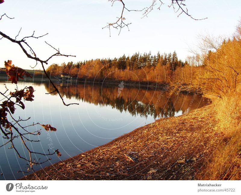 Bucherstausee im Herbst Herbst See