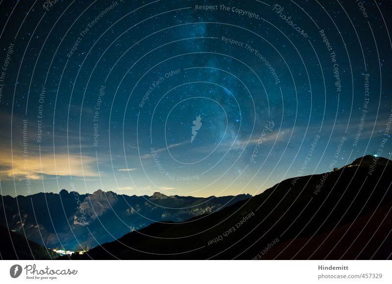 Galaktisches Zentrum Ferien & Urlaub & Reisen blau weiß Sommer Baum schwarz Umwelt Berge u. Gebirge oben außergewöhnlich Horizont orange groß stehen leuchten