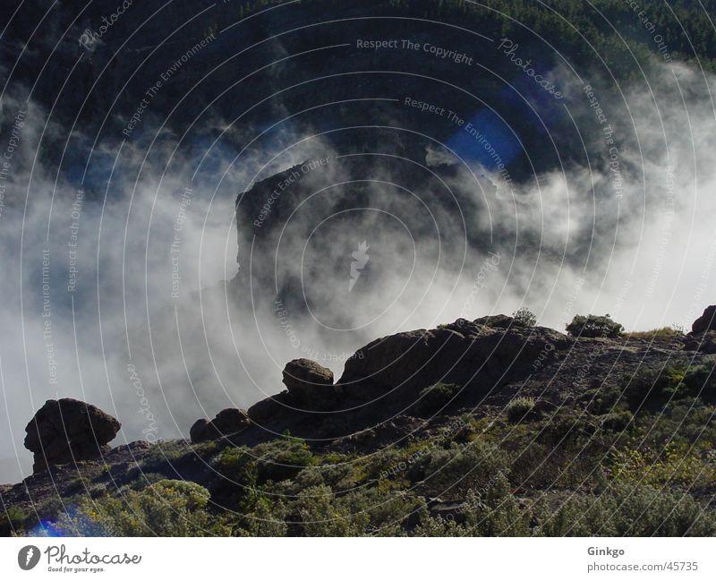 Hexenküche Sonne Wolken Gras Berge u. Gebirge Stein Nebel