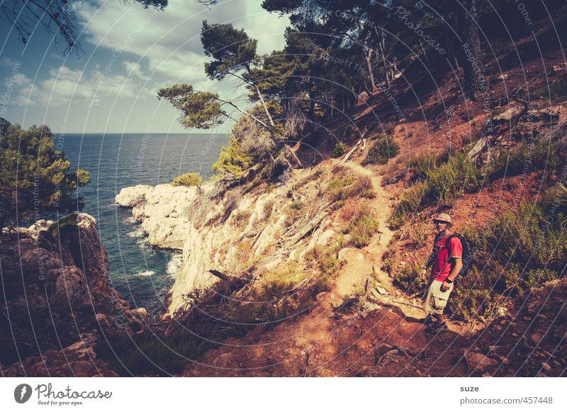 Nu komm endlich ... Mensch Natur Ferien & Urlaub & Reisen Sommer Baum Meer Landschaft Umwelt Berge u. Gebirge Wege & Pfade Küste Freizeit & Hobby maskulin Erde