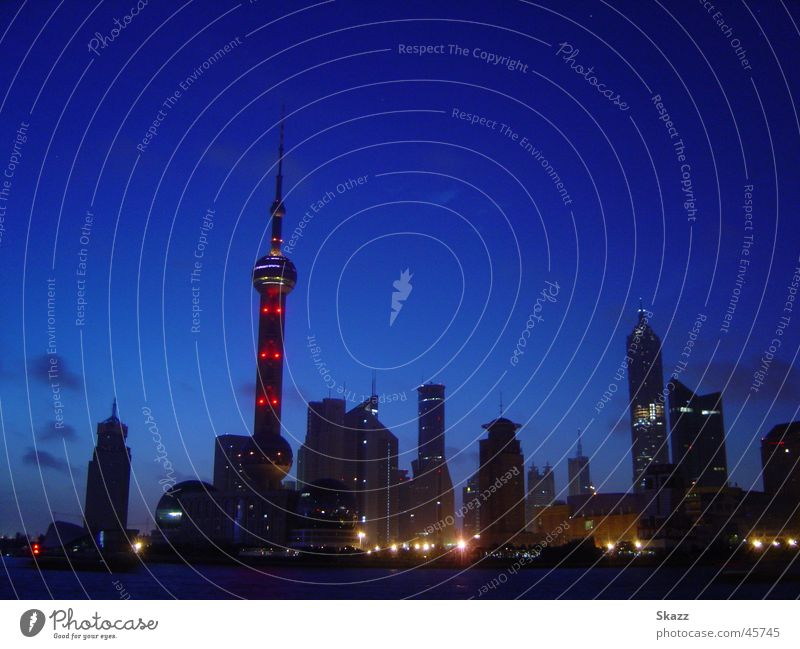 Dawn of Shanhai-Pudong Dämmerung kalt Hochhaus aufwachen Erfolg Skyline Technik & Technologie