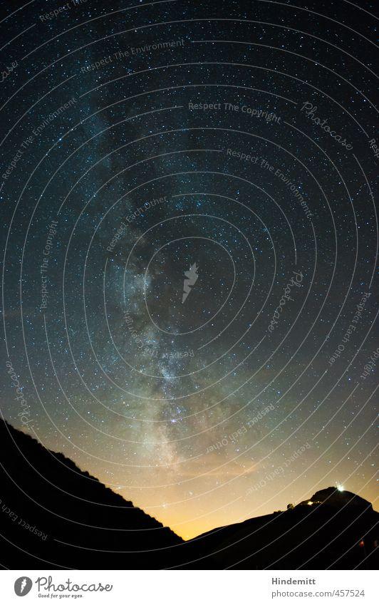 Galaktisches Zentrum II Himmel Ferien & Urlaub & Reisen blau Sommer Landschaft schwarz Ferne gelb dunkel Umwelt Berge u. Gebirge oben hell außergewöhnlich