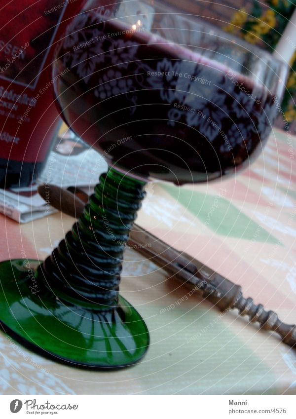Wein Ernährung Weinglas