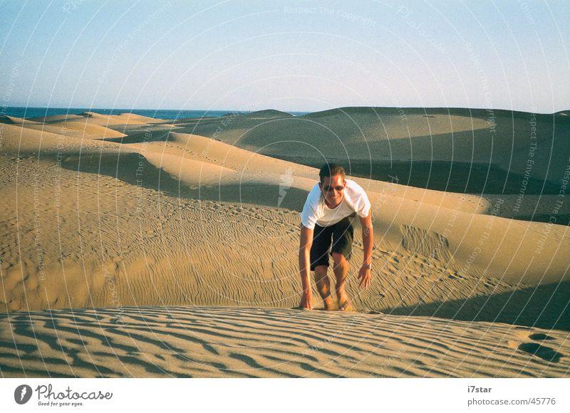 I'm walking Europa Grand Canaria Wüste Sand Durst