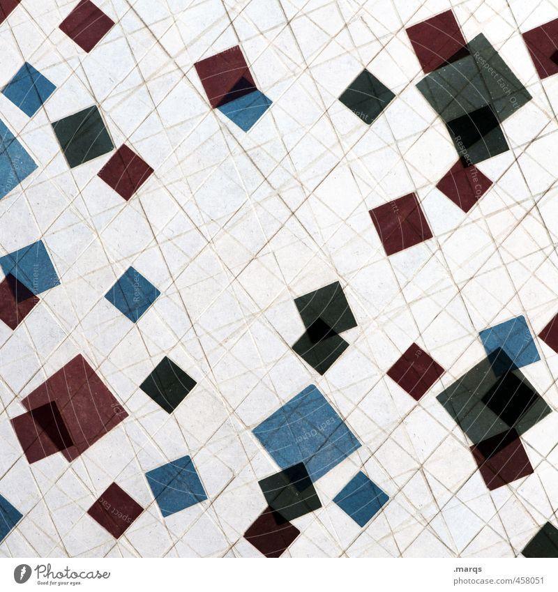 Pixel alt blau weiß rot schwarz Wand Mauer Linie einzigartig Doppelbelichtung Mosaik