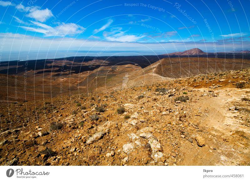 vulkanischer timanfaya steiniger himmel hügel und sommer Ferien & Urlaub & Reisen Tourismus Ausflug Abenteuer Sommer Insel Berge u. Gebirge Natur Landschaft