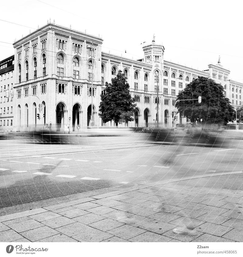 munich Ferien & Urlaub & Reisen Stadt Haus Straße Bewegung Architektur Gebäude Zeit PKW Verkehr Lifestyle Tourismus Geschwindigkeit Macht Stress Mobilität