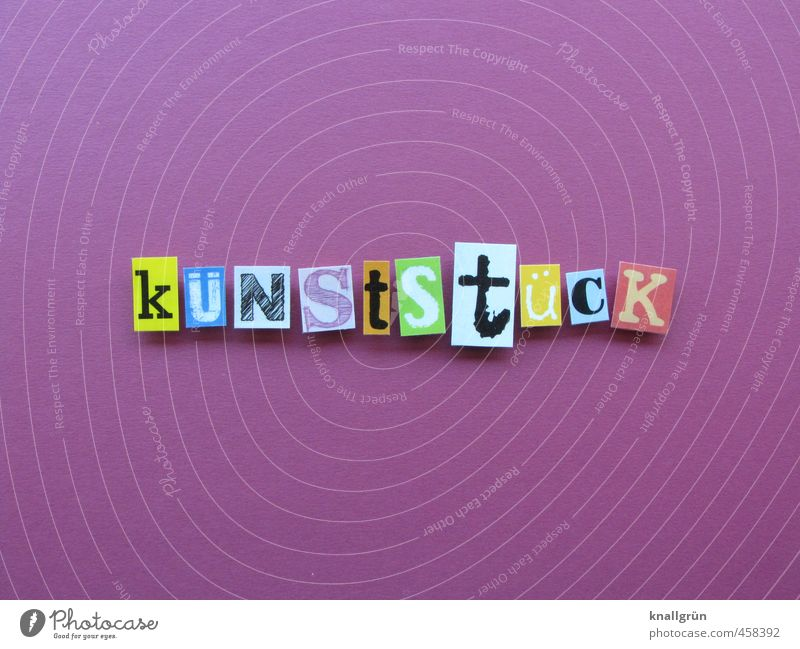 küNStStüCK Schilder & Markierungen Kommunizieren außergewöhnlich eckig einzigartig modern mehrfarbig violett Gefühle Freude Fröhlichkeit Begeisterung Design