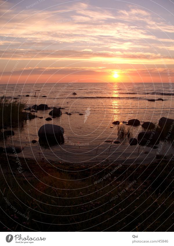 Sonnenuntergang auf Gotland Europa Schweden Nationalpark Naturschutzgebiet Gotland