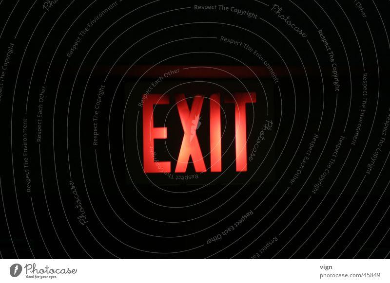 Exit Ausgang Leuchtreklame exit Schilder & Markierungen Lampe