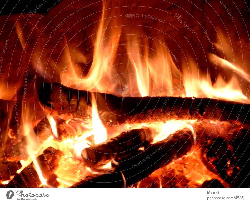 Feuer Brand Fototechnik Kaminfeuer